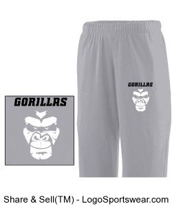 Youth Wicking Fleece Sweatpant Design Zoom