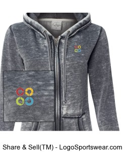 WOMENS Vintage Zen Fleece Full-Zip Hoodie Design Zoom