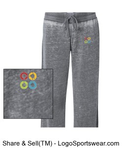 WOMENS Vintage Zen Fleece Sweatpant Design Zoom