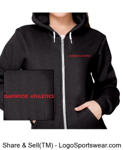 UNISEX SS PE Approved: American Apparel Fleece Full-Zip Hoodie Design Zoom