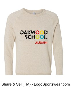 UNISEX Adult Alternative Eco-Fleece Crew (Alumni) Design Zoom